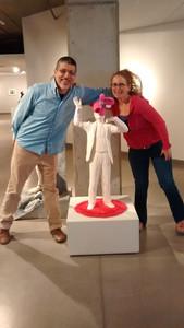 with Susan Beiner at ASU Ceramic Research Center