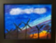 Solar Energy Windmills.Kat Olsen.Acrylic