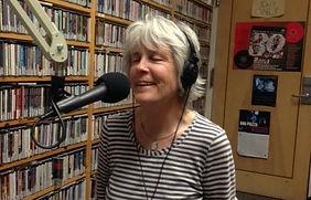 Pam Brown at the KSHU studio
