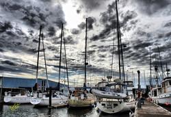 Oak Harbor Marina and Clouds