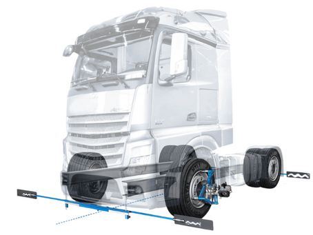 Precision alignments with TruckCam wheel alignment systems
