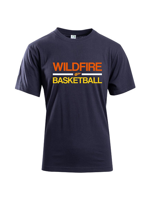 Wildfire Navy Blue Cotton Tshirt 3 Colour Wildfire Basketball