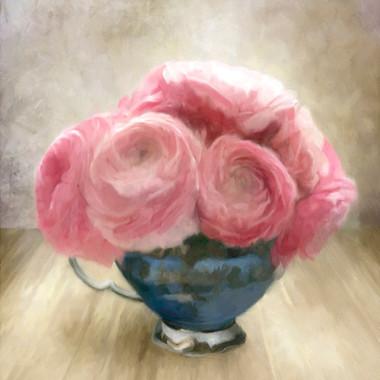 Jubilee Roses in Blue Teacup