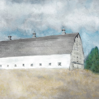 Old White Prairie Barn