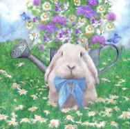 Blue Bow Bunny