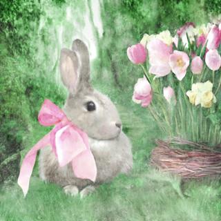Spring Garden Bunny