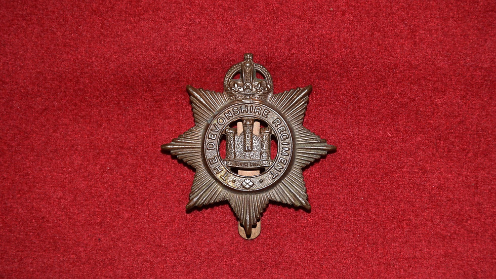 Devonshire Regiment - Cap Badge Circa WWI