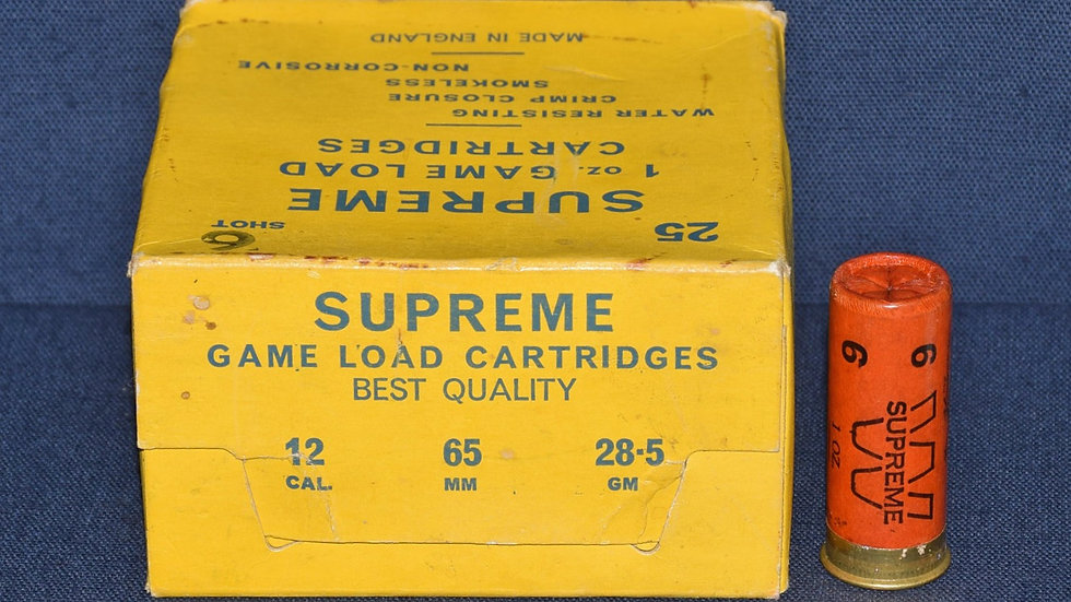 GL Wood & Sons Box of 25 12 Bore No.6