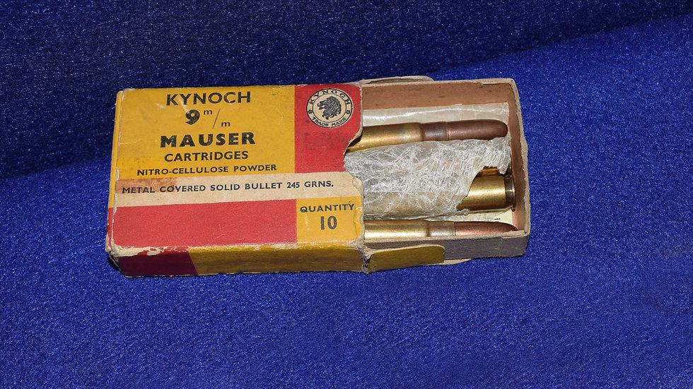 Kynoch 9mm Mauser Cartridges