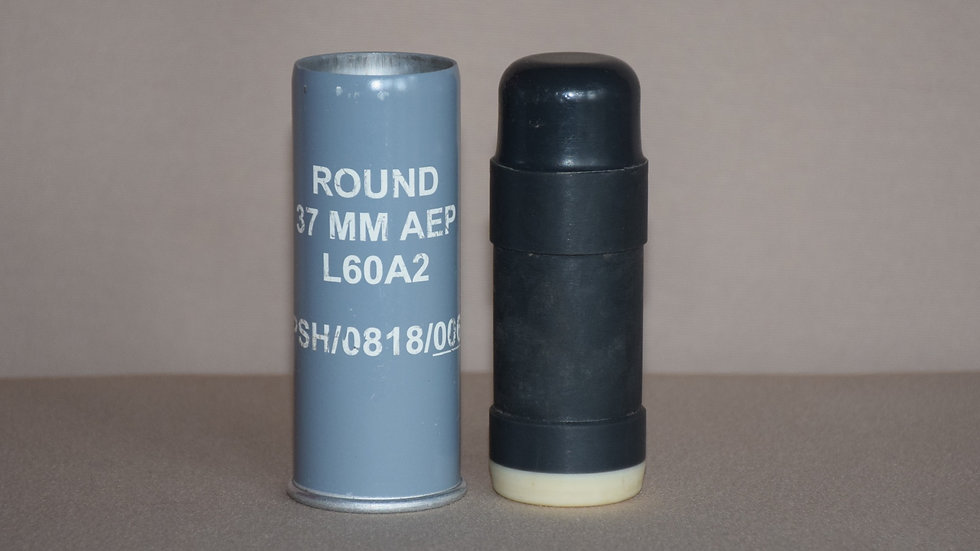 L60A2 37mm Baton Round (Rubber Bullet) - Inert Display Only