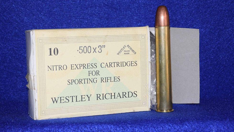 Westley Richards 500 Nitro Express Cartridges