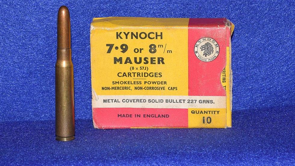 Kynoch 7.9 or 8mm Mauser Cartridges