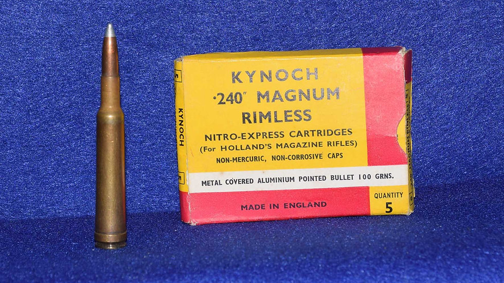 Kynoch 240 Magnum Cartridges (for Hollands magazine rifle)