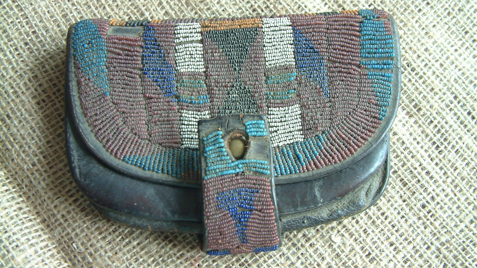 Zulu Wars 1879 - British Soldiers Cartridge Pouch with Zulu Bead Work