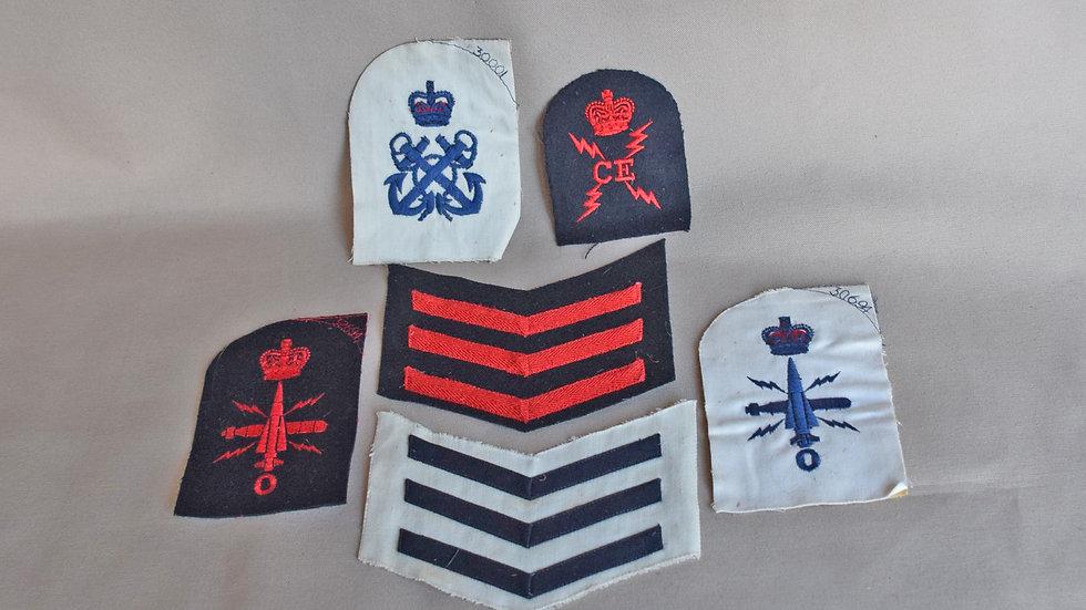Royal Navy Cloth Badges
