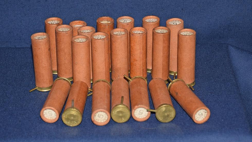 16 Bore Pinfire Paper Cartridges No.5 Shot.