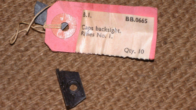 SMLE No I. Back Sight Cap - Original War Surplus Item Un-Issued