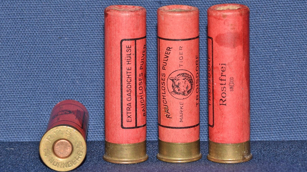 24 Bore Paper Cartridges (RWS) No.9 Shot.