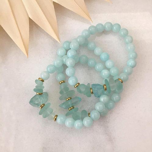 Seaglass Stretch Bracelet