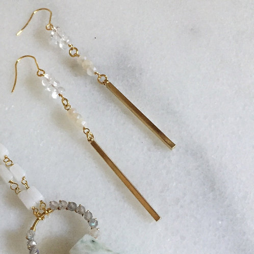 Crystal Moonstone Earrings