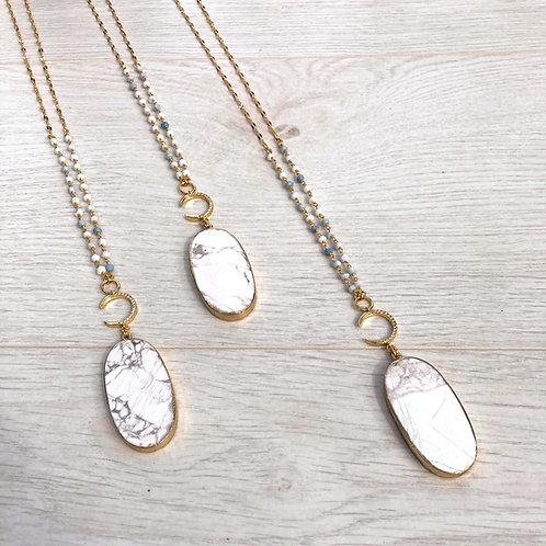 Calm Love Moon   Long Necklace