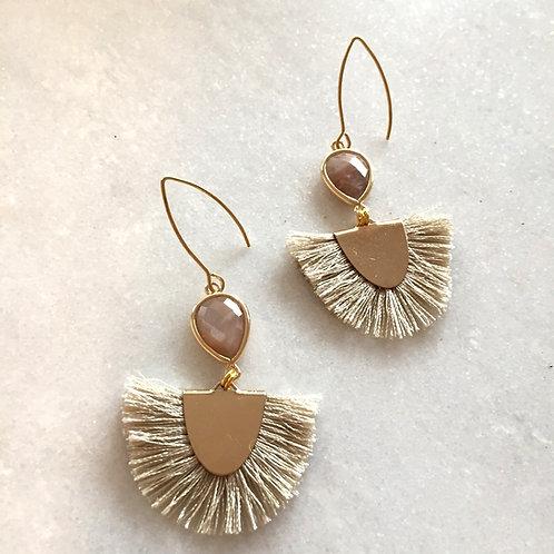 Sunstone Tassel'd Earrings