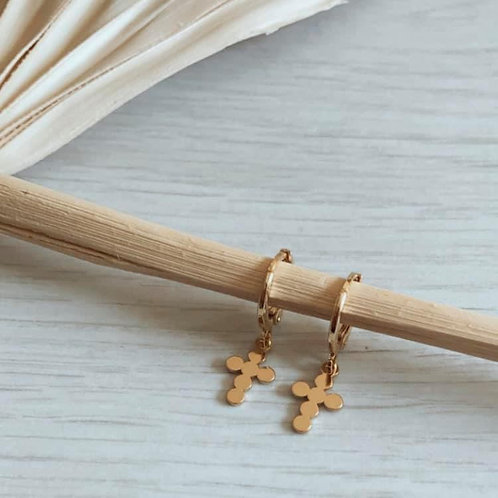 The Cross   Latchback Earring