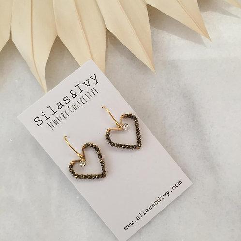 Stone Cold Heart Earrings