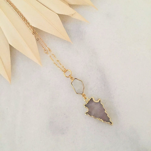 Rosey Moonstone Necklace