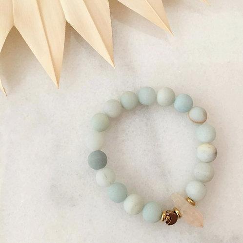Amazonite Quartz Moonbaby Bracelet
