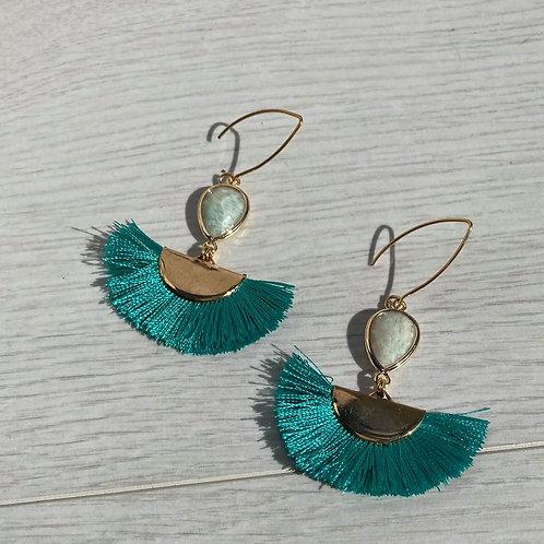 Turk the Turquoise   Tassel Earring