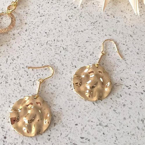 Hammered Dangle Everyday Earrings