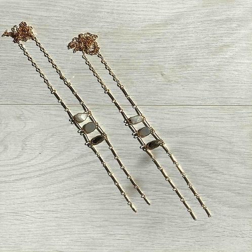 Neutrals Ladder   Long Necklace