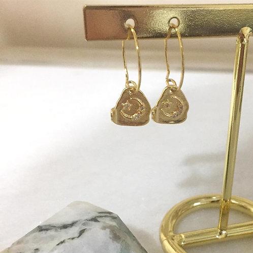 Moon Baby Latch-back Earrings