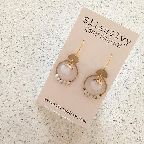 Moonstone Quartz Little Dangle Earrings