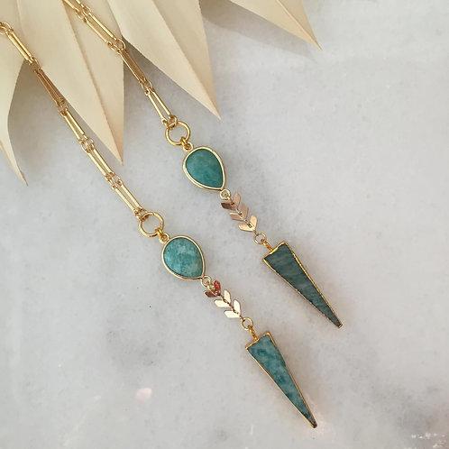 Amazonite Arrow Necklace