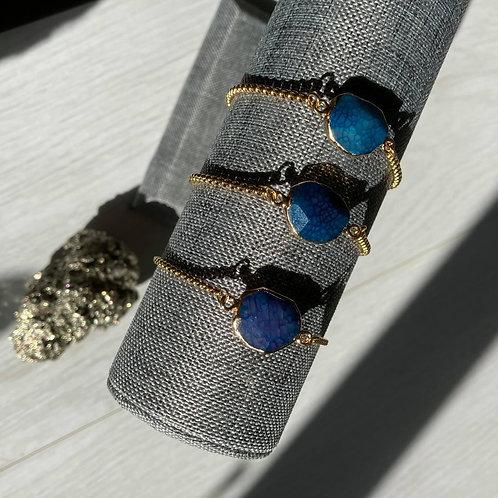 Blue Agate | Adjustable Bracelet