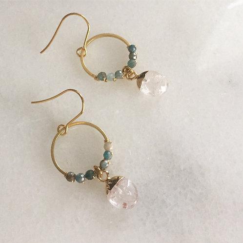 Apatite and clear quartz