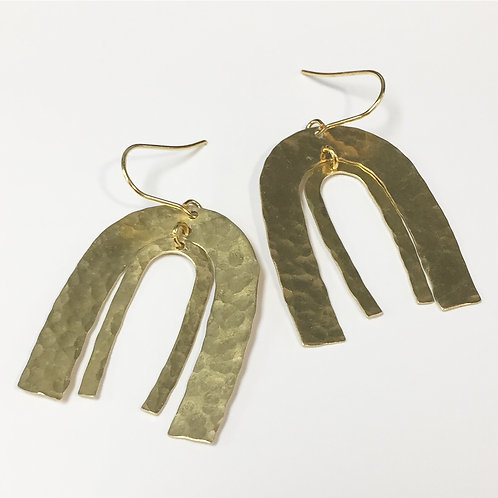 Hammered Wind Chime Earrings