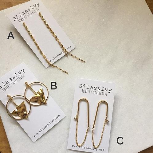 Gold'd Dangle Earrings