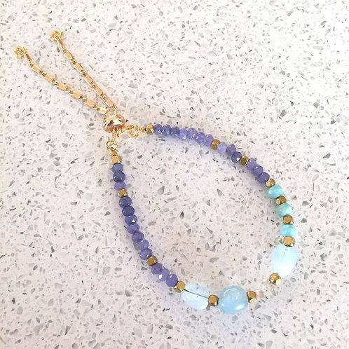 Blue Bitty Adjustable Stacking Bracelet