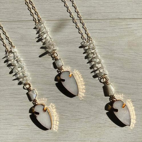 Glimmer Arrowhead   Long Necklace