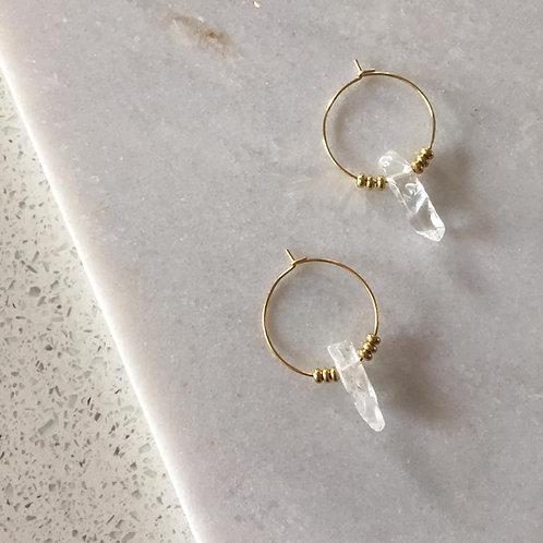 Crystal Free Bird Earrings