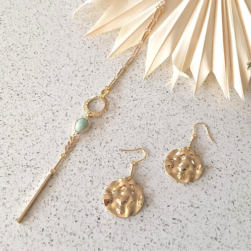 Amazonite Mix Lariat Necklace