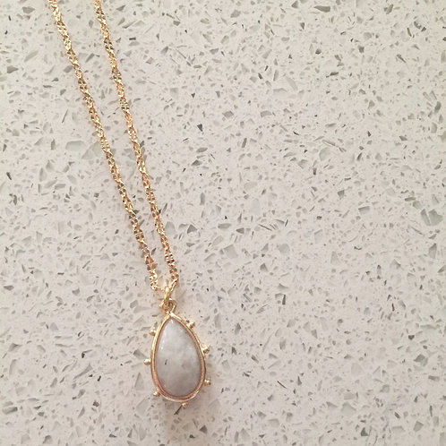 Moonstone Halo Shorties Necklace