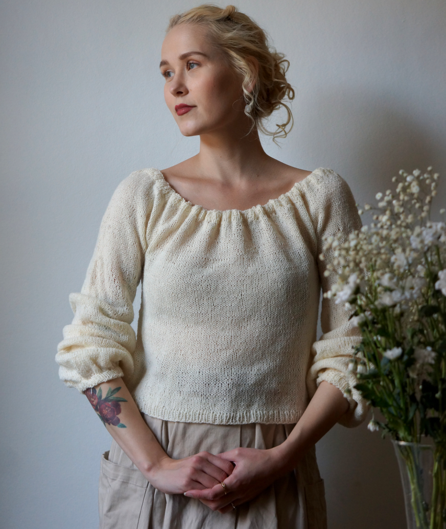 Paysanne Blouse in Pickles Pure Wool