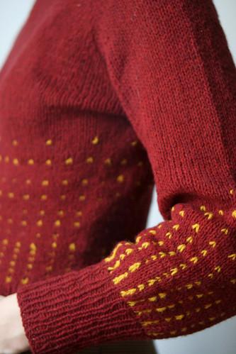 Ollivanders knit in Pickles Pure Wool