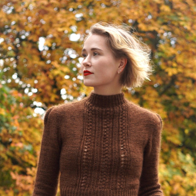 "Heirloom Jumper in Athena & Mohair Silk ""Acorn"""