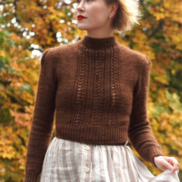 """Antiquity Blouse in Athena & Mohair Silk """"Acorn"""""""