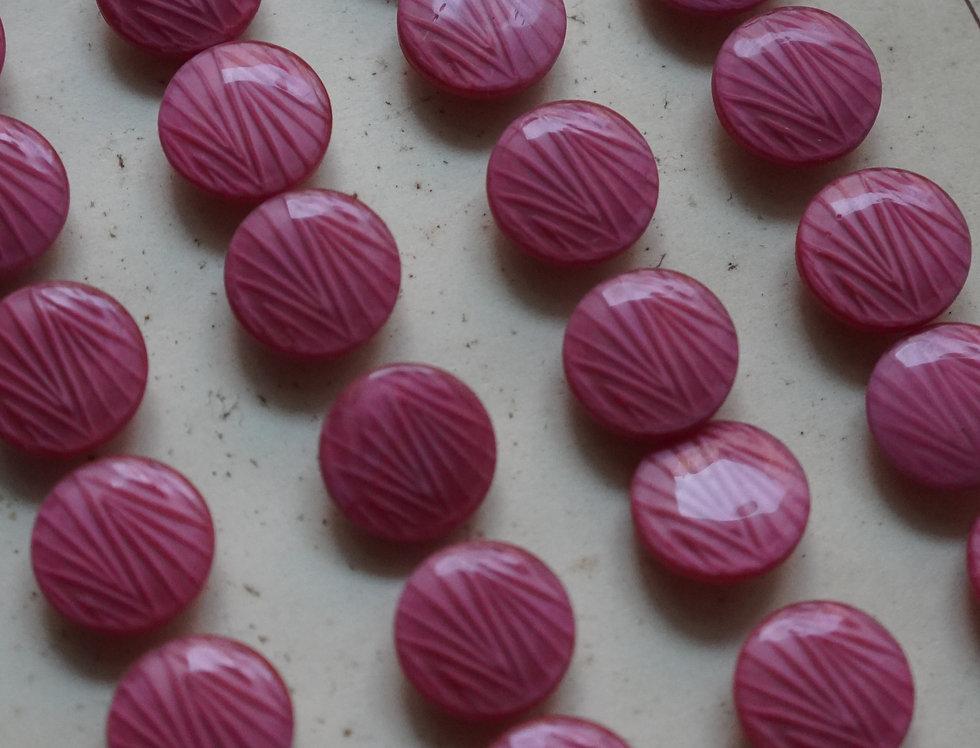 Pink Zebra 1940s Vintage Buttons